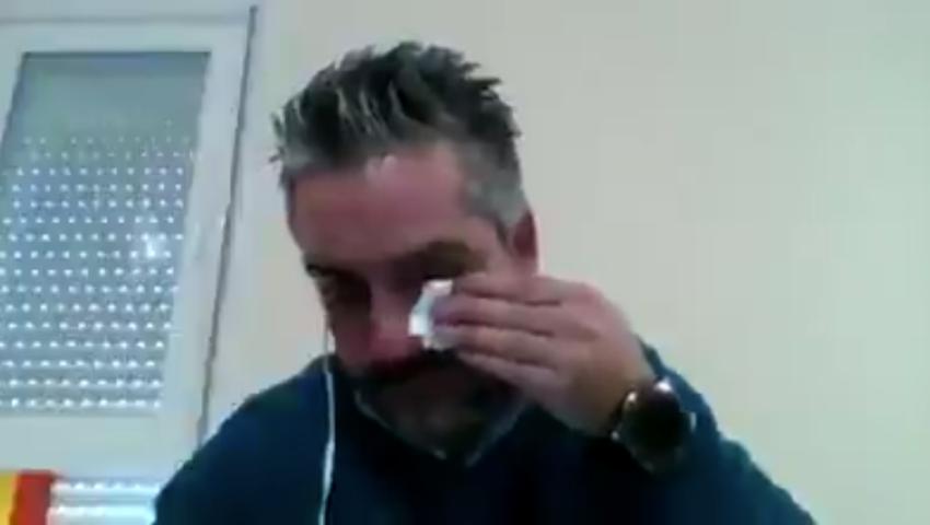 Συγκινητικός ο δακρυσμένος Ισπανός γιατρός αλλά αποδείχθηκε… fake news