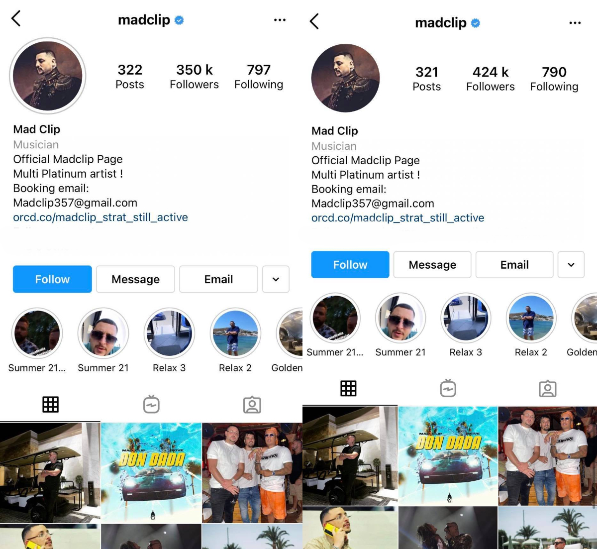 H αλλαγή στο instagram του Mad Clip 5 ημέρες μετά τον θάνατό του (Pic)